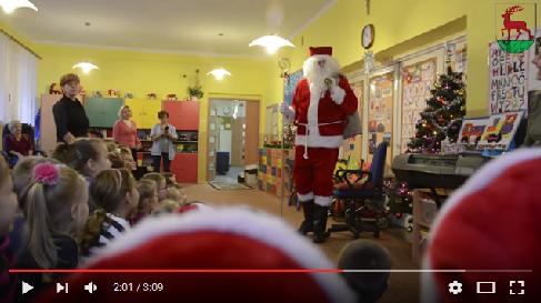 Miniatura filmu: Odc.4 Święty Mikołaj odwiedził dzieci w przedszkolach i szkole