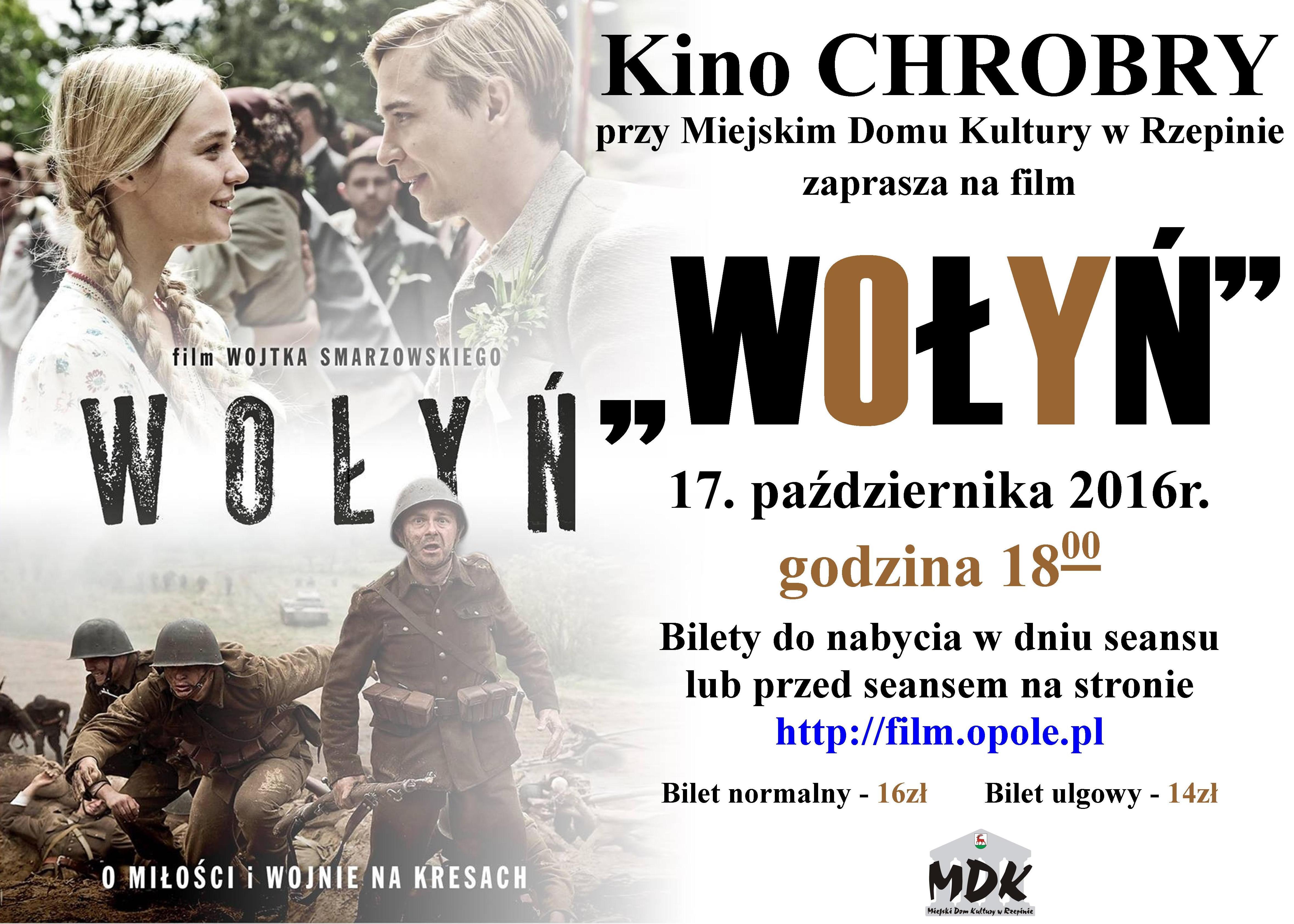 """Ilustracja do informacji: Kino CHROBRY zaprasza na film pt.""""Wołyń""""."""