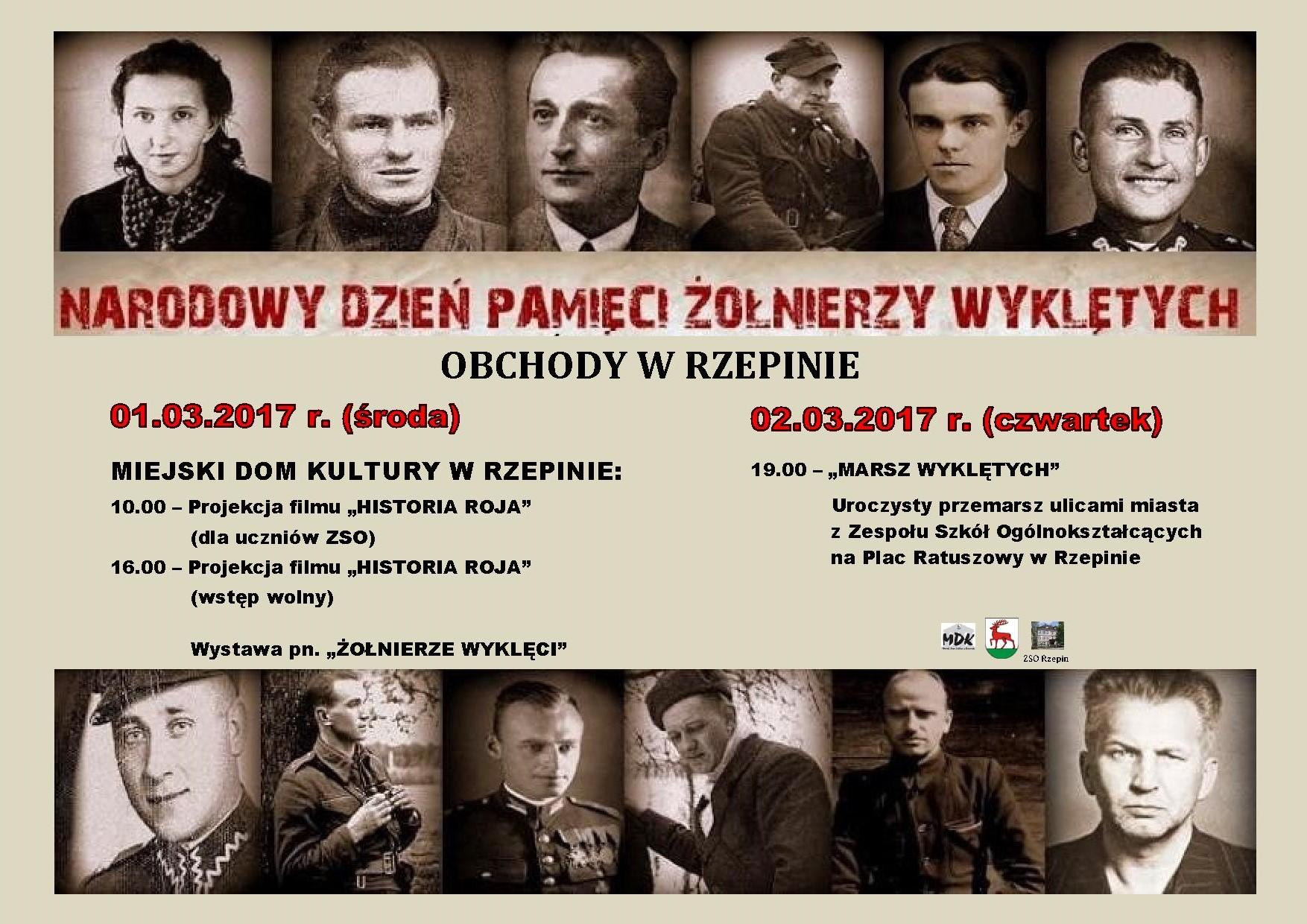 Ilustracja do informacji: Zapraszamy na obchody Narodowego Dnia Pamięci Żołnierzy Wyklętych.