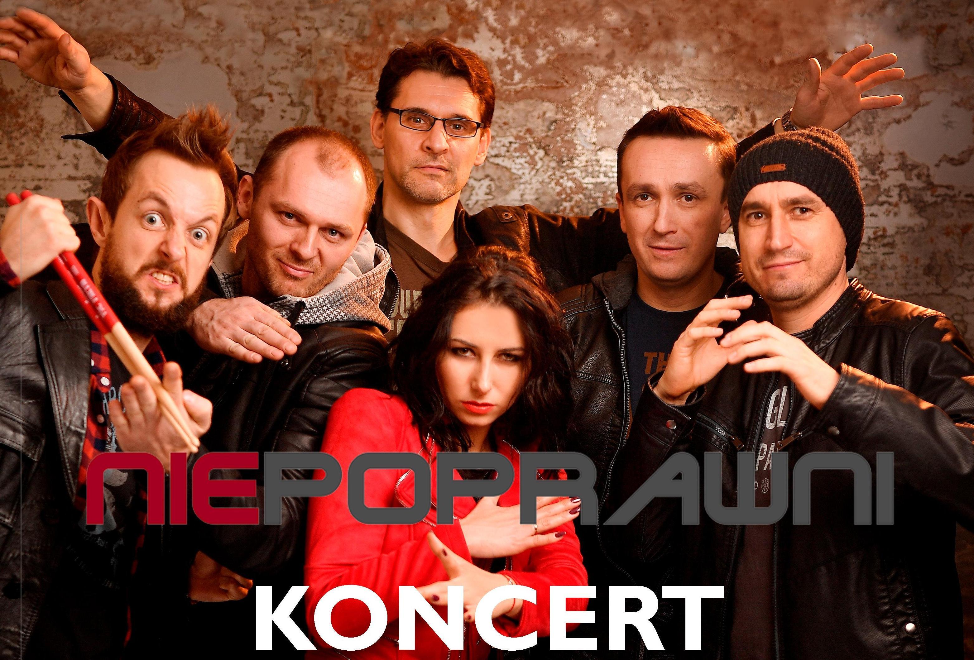 Ilustracja do informacji: Koncert zespołu NIEPOPRAWNI w MDK.