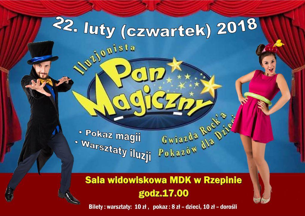 Ilustracja do informacji: POKAZ MAGII i warsztaty iluzji w MDK w Rzepinie!