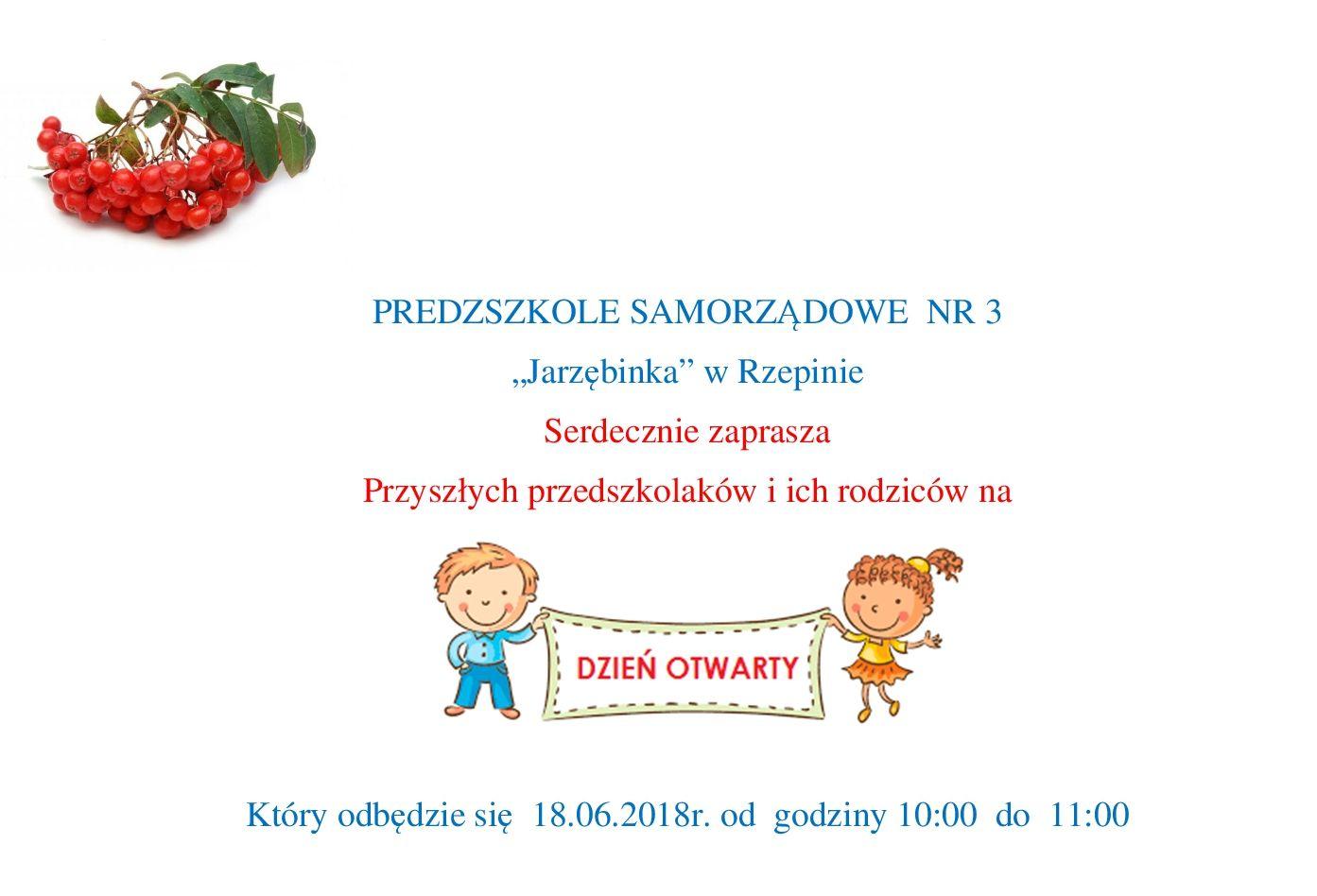 Ilustracja do informacji: Dni otwarte Przedszkola Samorządowego nr 3 w Rzepinie