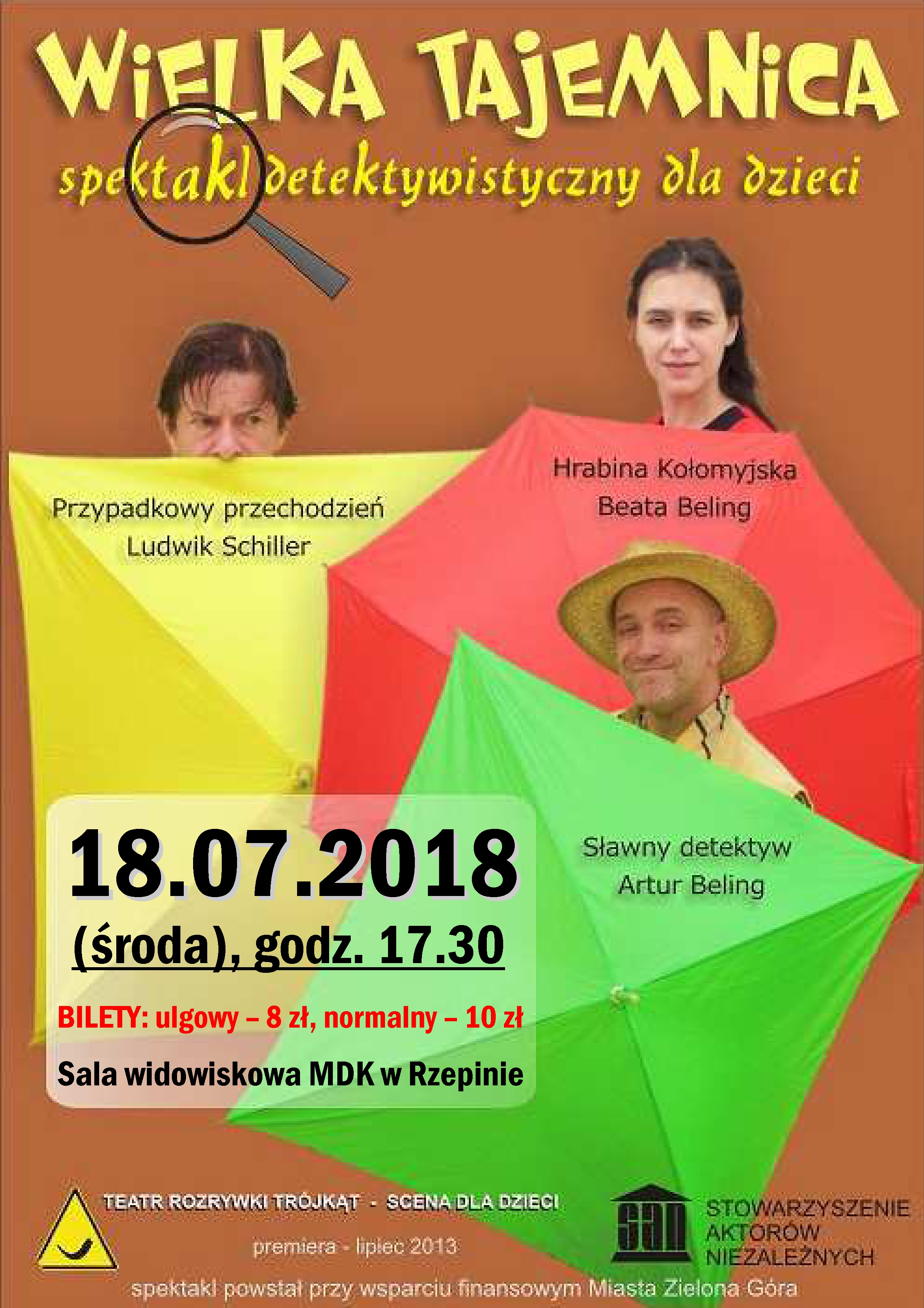 """Ilustracja do informacji: """"Wielka tajemnica"""" w MDK w Rzepinie"""