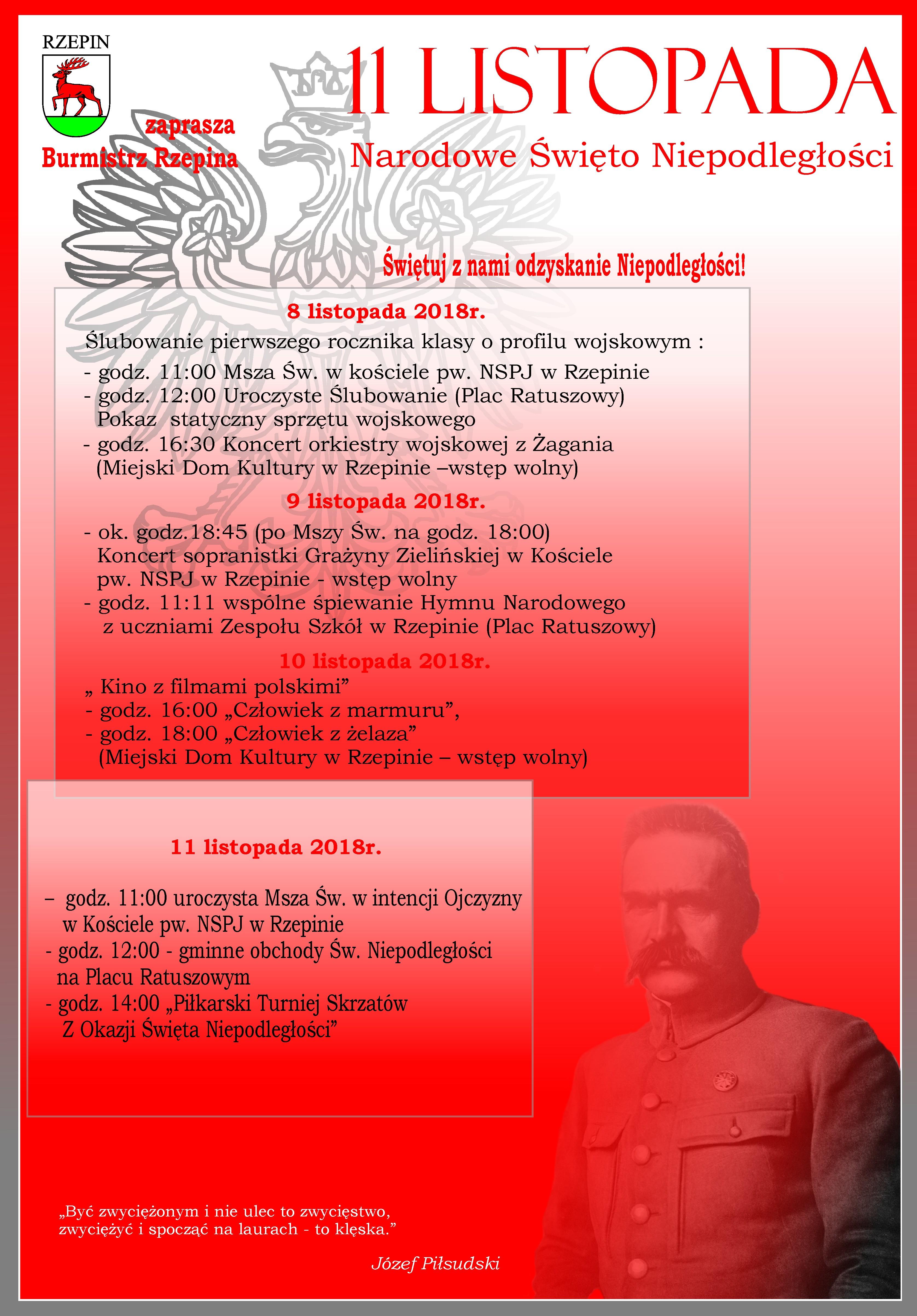 Ilustracja do informacji: Świętuj z Nami 100-lecie Niepodległości!