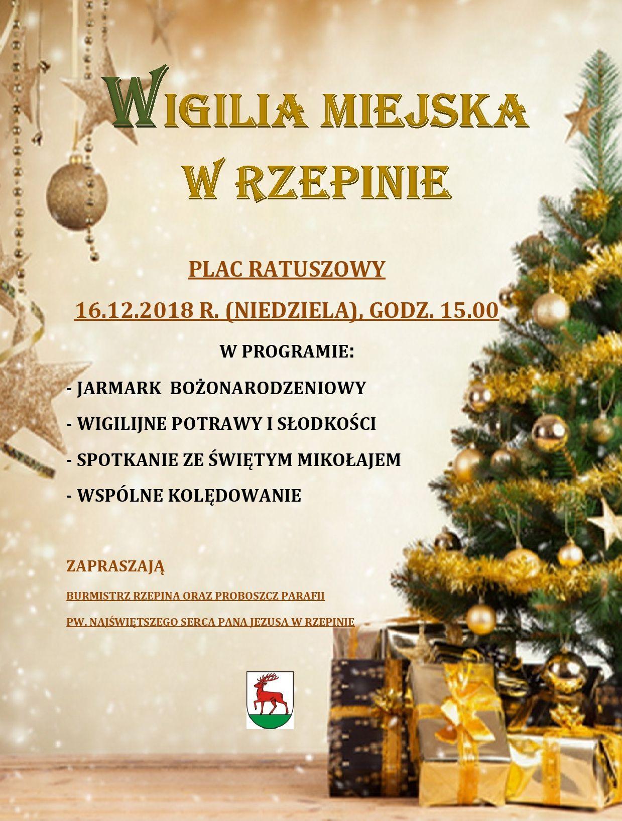Ilustracja do informacji: Wigilia Miejska w Rzepinie!