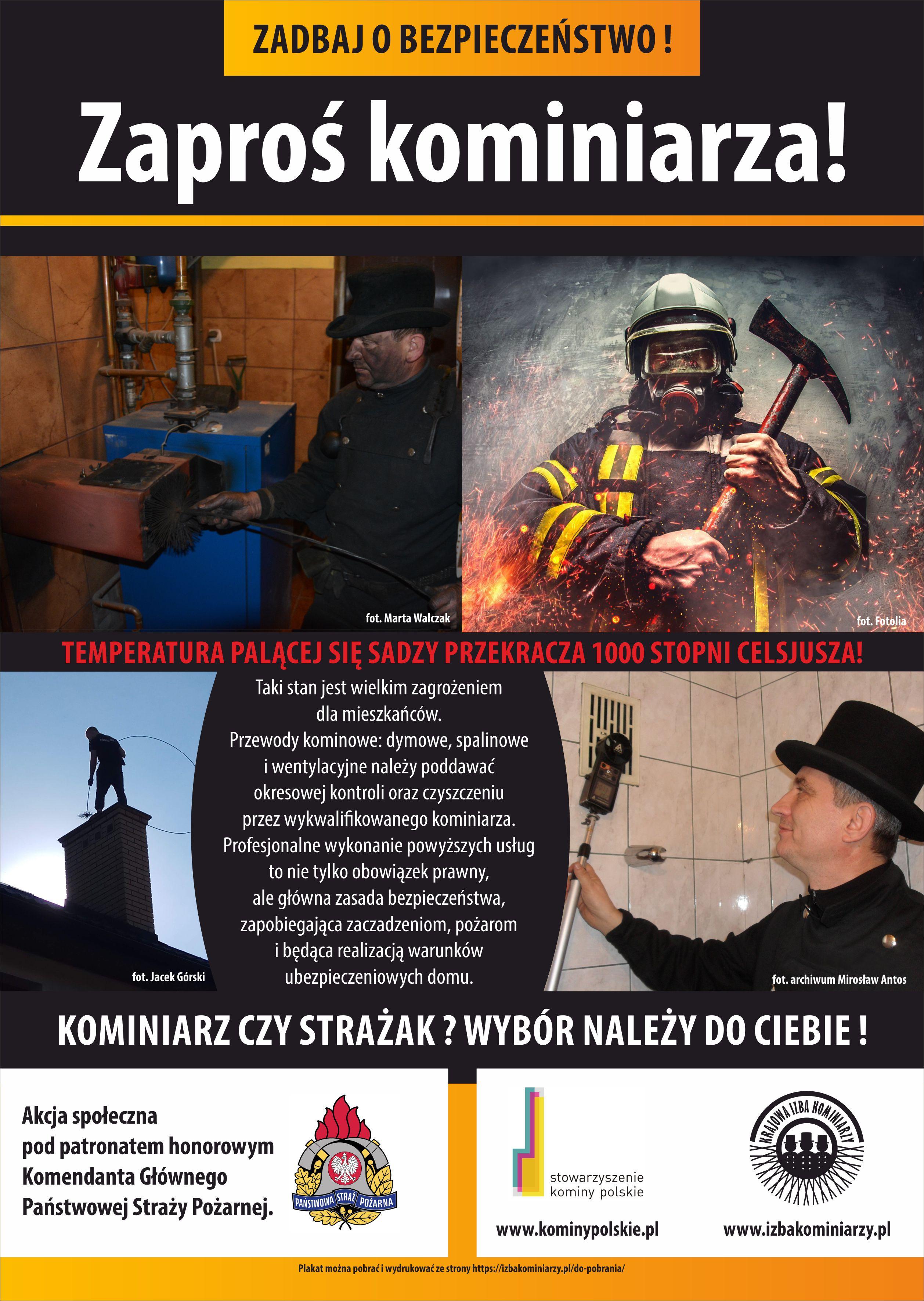 Ilustracja do informacji: ZAPROŚ KOMINIARZA - zadbaj o bezpieczeństwo!