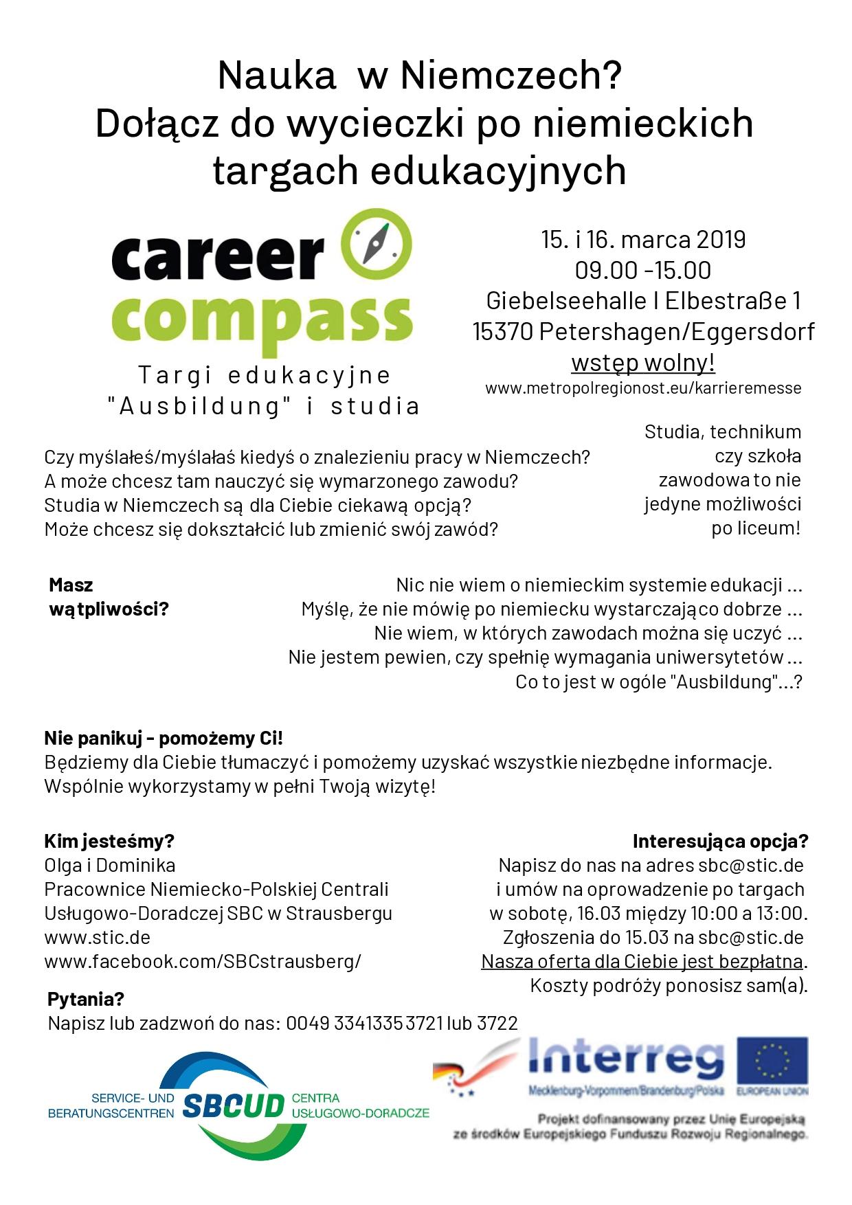 """Ilustracja do informacji: Niemieckie targi edukacyje """"Career-Compass"""""""
