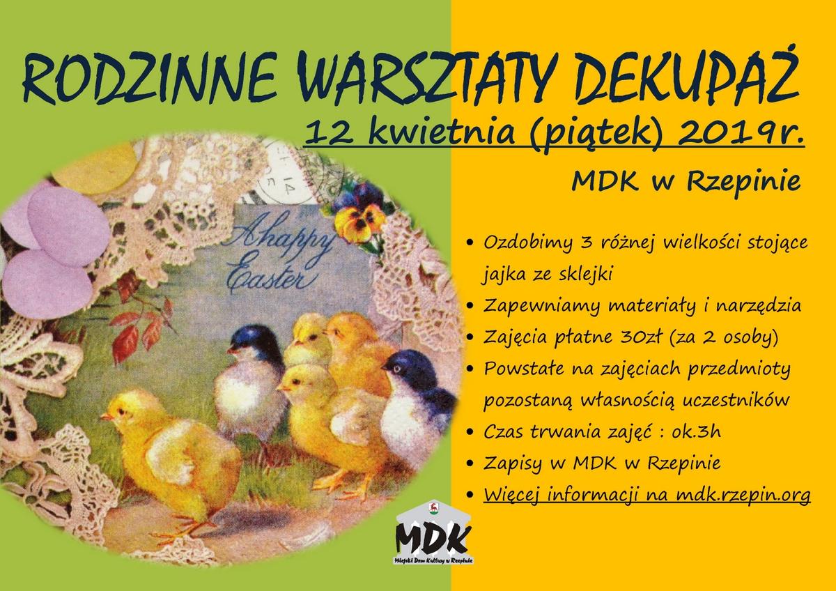 Ilustracja do informacji: Warsztaty dekupaż - zapraszamy na przedświąteczne zajęcia w MDK