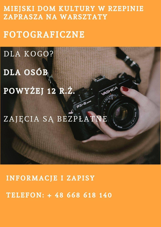 Ilustracja do informacji: MDK w Rzepinie zaprasza na warsztaty fotograficzne
