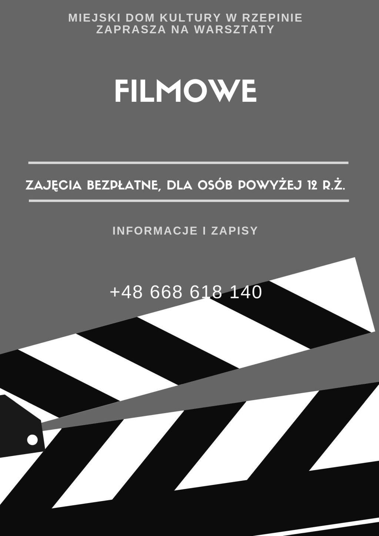 Ilustracja do informacji: Zapisz się na warsztaty filmowe!