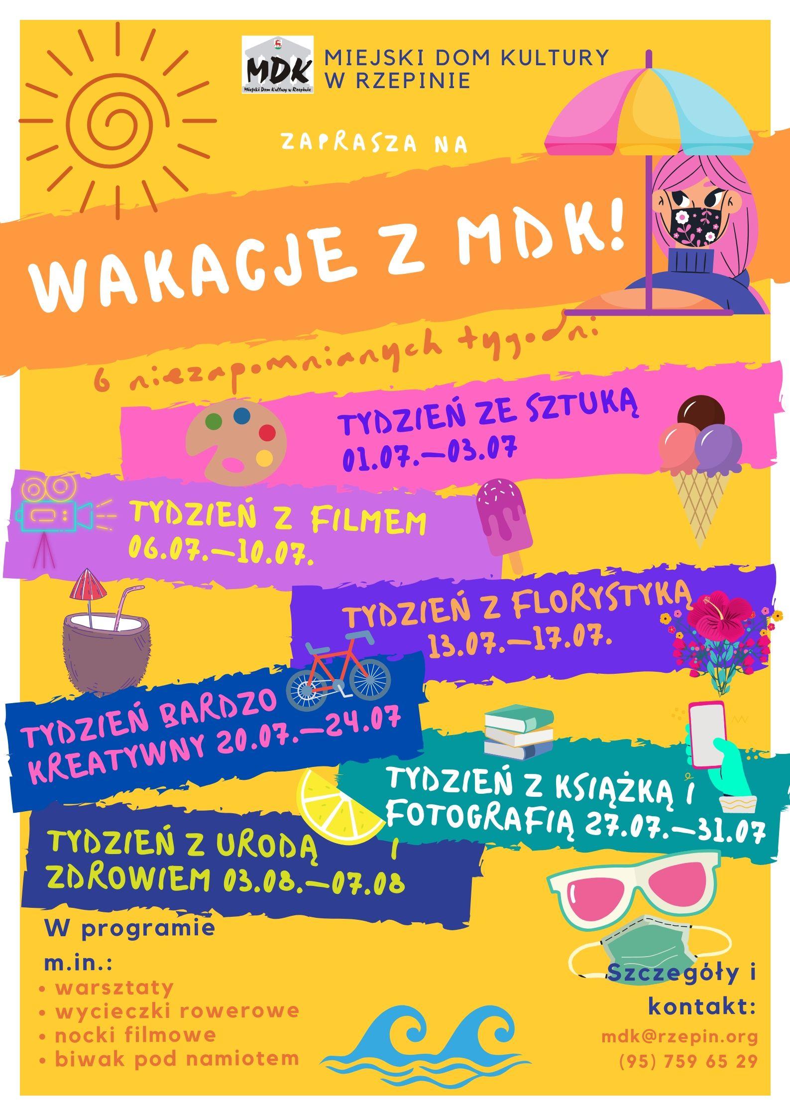 Ilustracja do informacji: Wakacje z MDK!