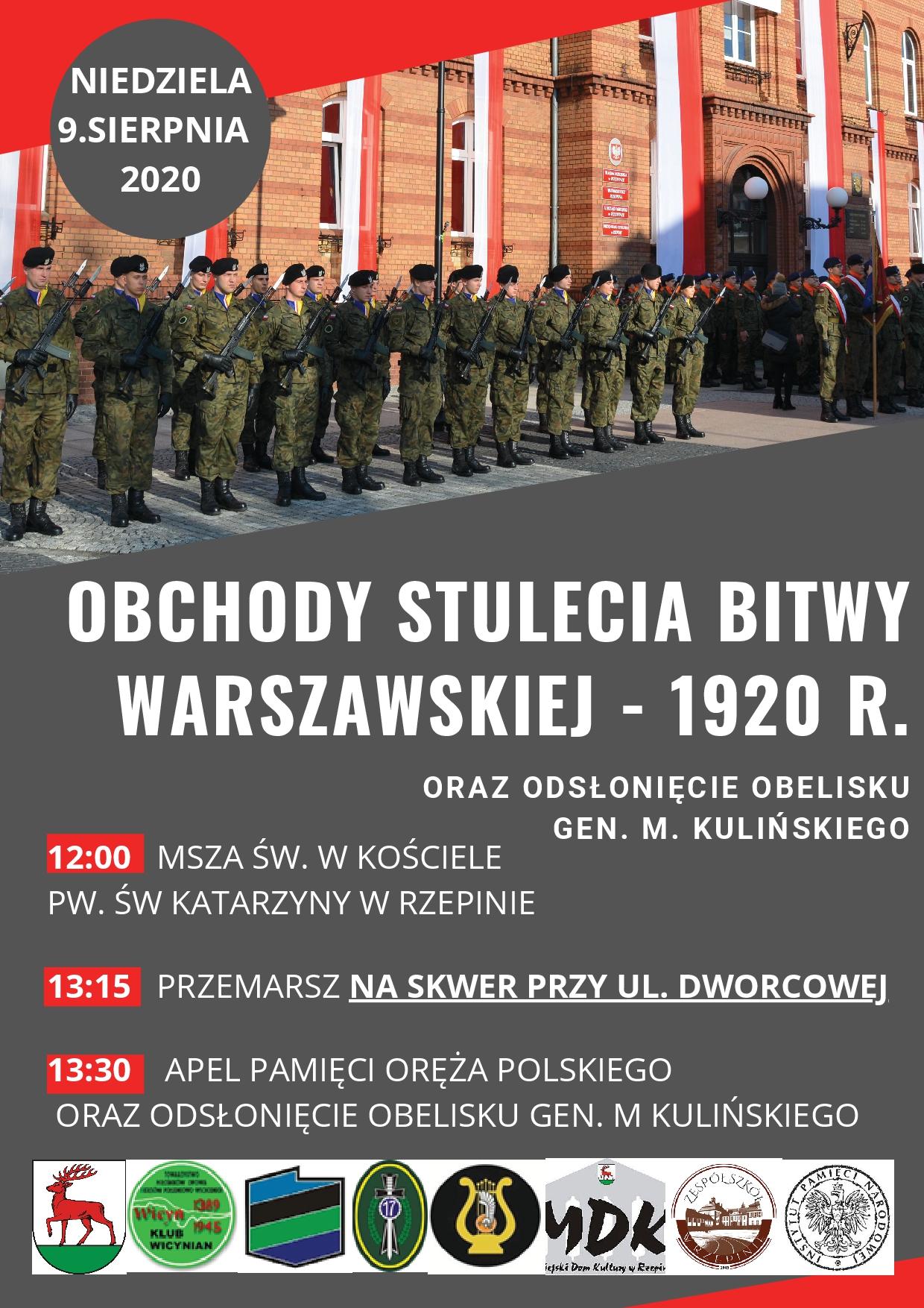 Ilustracja do informacji: Zapraszamy na obchody Stulecia Bitwy Warszawskiej !
