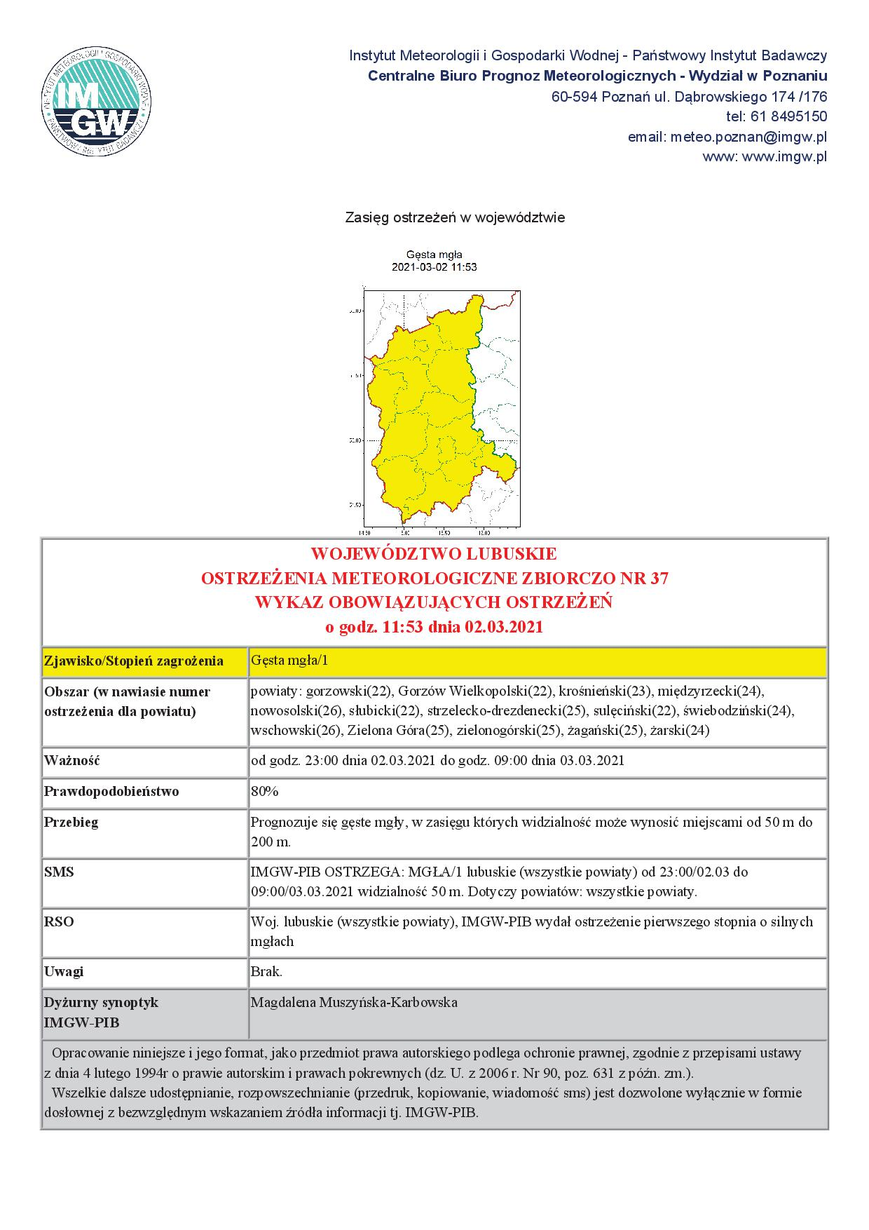 Ilustracja do informacji: Uwaga! Ostrzeżenie meteorologiczne.