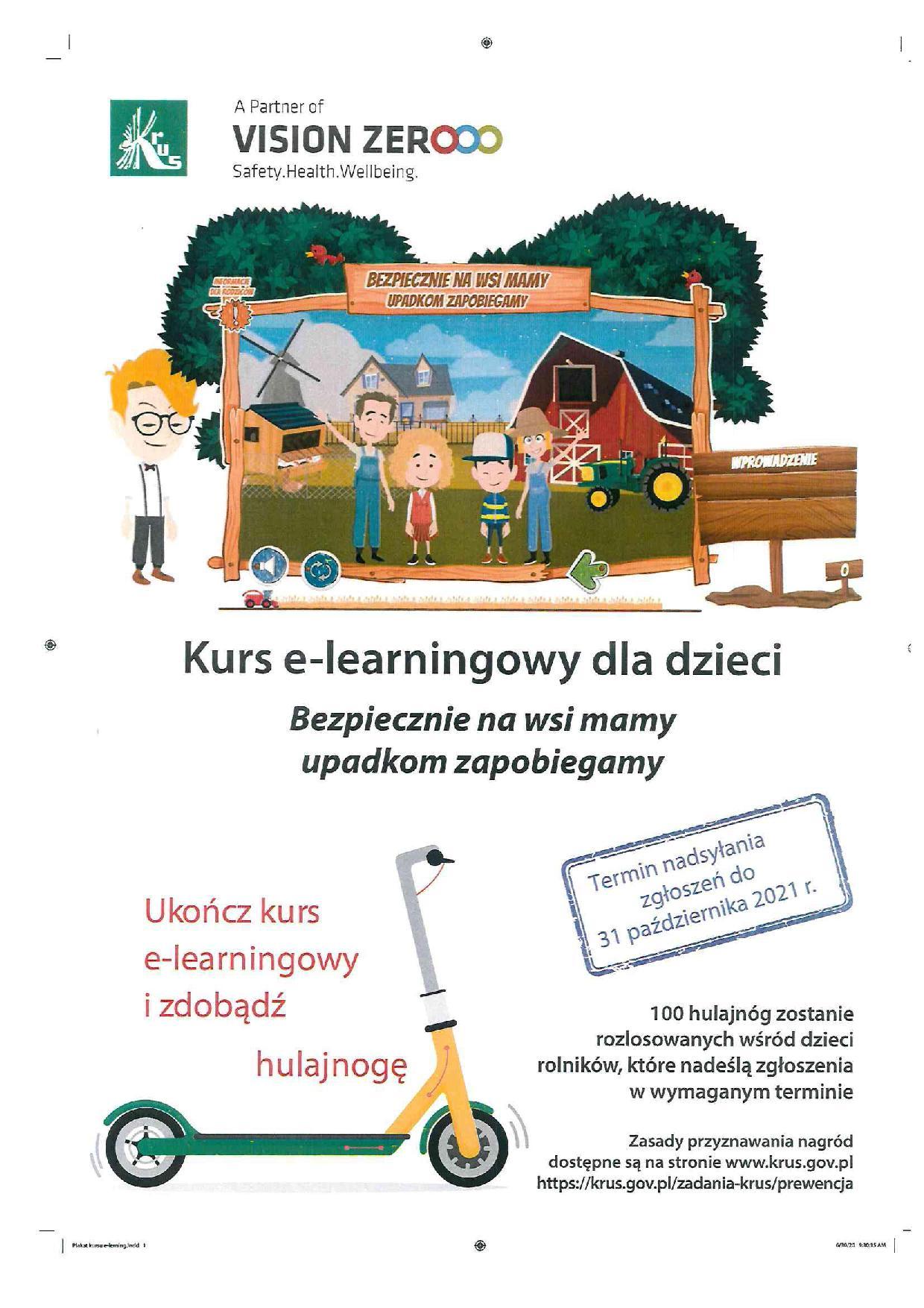 """Ilustracja do informacji: Informacja o kursie e-learningowym """"Bezpiecznie na wsi mamy - upadkom zapobiegamy"""""""
